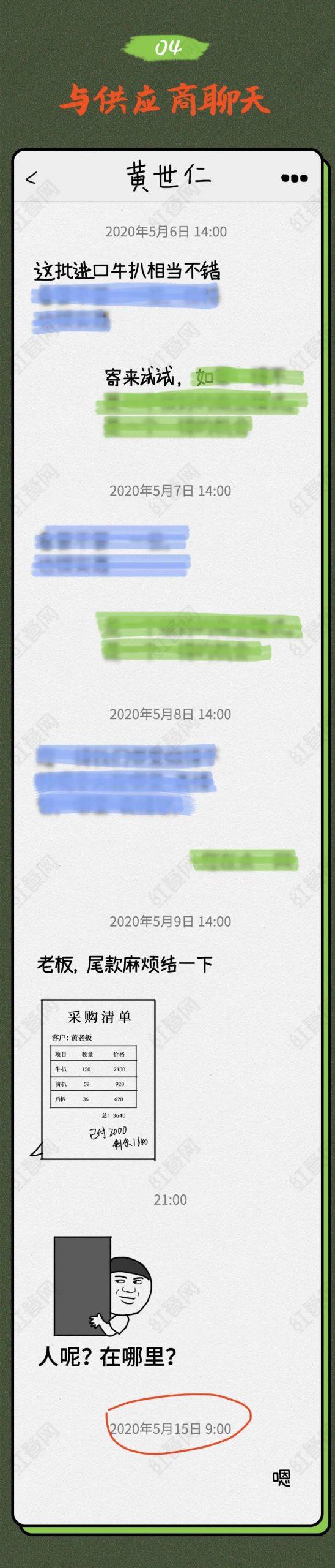 餐饮人不堪入目的微信聊天截图